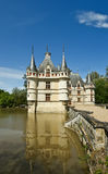 Chateau Azay-le-Rideau (was built from 1515 to 1527), Loire, France Stock Images