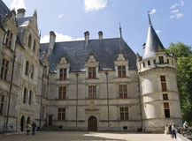 Chateau Azay-le-Rideau Yard Stock Photo