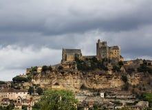 Chateau Beynac - Frankrike Arkivfoton