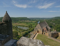 Chateau Beynac, medieval castle in Dordogne Stock Image