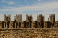 Chateau Beynac, middeleeuws kasteel in Dordogne stock foto