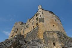 Chateau Beynac, middeleeuws kasteel in Dordogne Royalty-vrije Stock Foto's