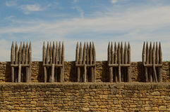 Chateau Beynac, mittelalterliches Schloss in Dordogne Stockfoto