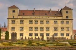 Chateau in Bucovice lizenzfreie stockfotos