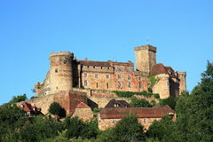 Chateau Castelnau-Bretenoux Immagini Stock Libere da Diritti