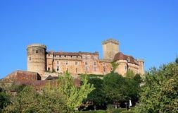 Chateau Castelnau Bretenoux Immagine Stock Libera da Diritti