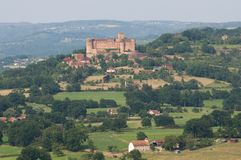 Chateau Castelnau de Bretenoux, France Stock Images