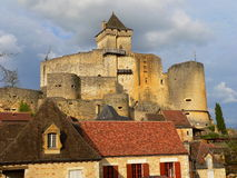 Chateau , Castelnaud-la-Chapelle (France ) Royalty Free Stock Photography