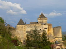 Chateau , Castelnaud-la-Chapelle (France ) Royalty Free Stock Photo