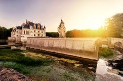 The Chateau (castle) de Chenonceau, France Royalty Free Stock Images