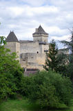 Chateau castlenaud. In the Dordogne region of France Stock Image
