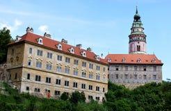 Chateau, Cesky Krumlov, Czech Republic. Chateau, Historic Center of Cesky Krumlov, Czech Republic stock photos