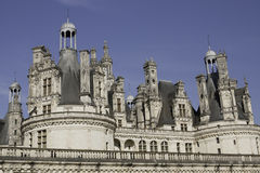 Chateau Chambord. Fragment of the front facade of Chateau Chambord in Loire Valley, France stock photography