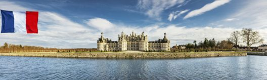 Chateau Chambord royaltyfri fotografi