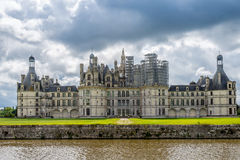 Chateau Chambord with moat Stock Image