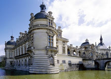 Chateau chantilly. Castle chateau chantilly oise france eu europe royalty free stock photography