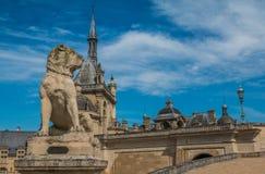 Chateau Chantilly near Paris France Stock Images