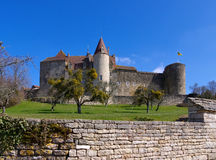 Chateau Chateauneuf-en-Auxois in France Stock Photos