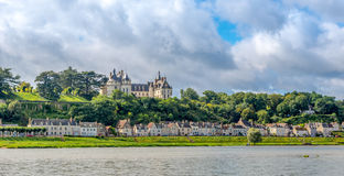 Chateau of Chaumont is located on the river Loire. Royalty Free Stock Photo