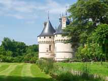 Chateau Chaumont-s-Loire. Chaumont-s-Loire, France - June 8, 2014: Chateau Chaumont-s-Loire. View of part of the castle and the garden circumstances royalty free stock images