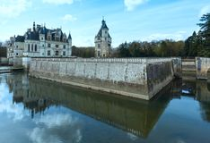 Chateau Chenonceau of Dameskasteel (Frankrijk) Royalty-vrije Stock Foto's
