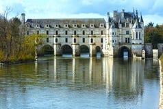 Chateau Chenonceau eller damslott (Frankrike) Royaltyfri Fotografi