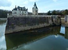 Chateau Chenonceau eller damslott (Frankrike) Arkivbilder