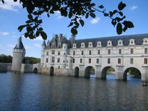 CHATEAU CHENONCEAU, France. Castle in the water from france Stock Photos