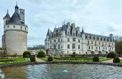 Chateau Chenonceau or Ladies Castle (France). Stock Photo