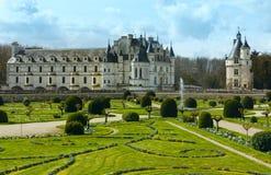 Chateau Chenonceau or Ladies Castle (France). Stock Photos