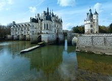 Chateau Chenonceau or Ladies Castle (France). Royalty Free Stock Images