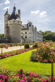 Chateau Chenonceau - Loire Valley - France. Chateau de Chenonceau spanning the River Cher in the Loire Valley in France. Built (1513-1521) as a pleasure palace Royalty Free Stock Images