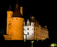 Chateau Chenonceau at night. Stock Photography