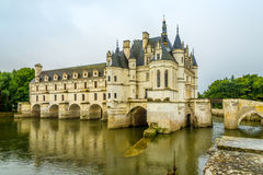 The chateau Chenonceau, on the river Cher Stock Images