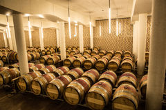 Chateau Cheval Blanc cellar,saint emilion, right bank,Bordeaux, France. Winery of Chateau Cheval Blanc, Bordeaux, France. Grand crus Classe A, fine wine Royalty Free Stock Photo