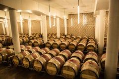 Chateau-Cheval Blanc-Keller, Heiliges emilion, rechte Bank, Bordeaux, Frankreich Lizenzfreies Stockfoto