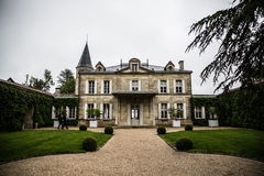 Chateau Cheval Blanc mansion garden,saint emilion, right bank,Bordeaux, France. Winery of Chateau Cheval Blanc, Bordeaux, France. Grand crus Classe A, fine wine Stock Image