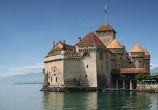 Chateau Chillon in Switzerland. Chateau Chillon on Lake Geneva in Switzerland royalty free stock photo