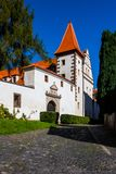 State castle Benešov nad Ploučnicí in the Czech Republic. The chateau complex is a unique example of Gothic and Renaissance architecture - the so-called Saxon Royalty Free Stock Images