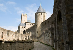 Chateau Comtal Carcassonne Stockfotos