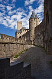 Chateau Comtal of Carcassonne fortress Royalty Free Stock Photography