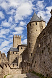 Chateau Comtal of Carcassonne fortress Royalty Free Stock Images