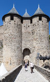 Chateau Comtal Carcassonne Medieval City France Stock Photos