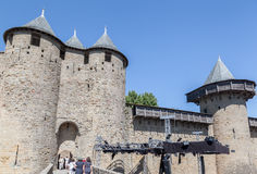 Chateau Comtal Carcassonne Medieval City France Royalty Free Stock Photography