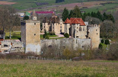 Chateau Couches in France. Chateau Couches in Burgundy, France Royalty Free Stock Image