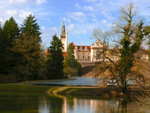 Chateau Czech Republic. The game of light Royalty Free Stock Image