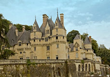 Chateau d�Usse. Chateau d'Usse is the inspiration for the fairy-tale castle in Sleeping Beauty stock photos
