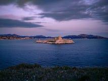 Chateau D 'als gevangenis waar Alexander Dumas telling Monte Cristo in zijn roman, Marseille, Frankrijk gevangennam royalty-vrije stock afbeelding