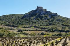 Chateau d ` Aguilar in Frankreich lizenzfreies stockfoto