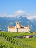 Chateau d'Aigle. Famous castle Chateau d'Aigle in canton Vaud, Switzerland Stock Photos
